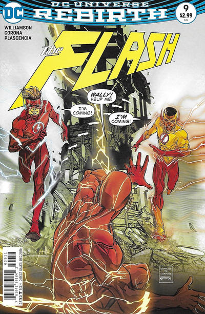 Cover for The Flash (DC, 2016 series) #9 [Dave Johnson Variant Cover]