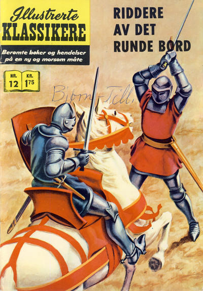 Cover for Illustrerte Klassikere [Classics Illustrated] (Illustrerte Klassikere / Williams Forlag, 1957 series) #12 - Riddere av det runde bord [1. opplag]