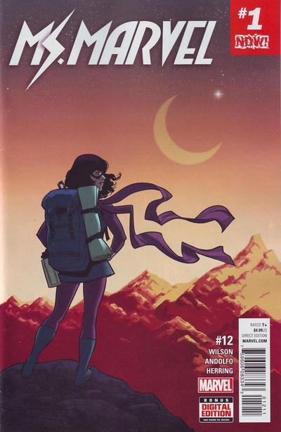Cover for Ms. Marvel (Marvel, 2016 series) #12