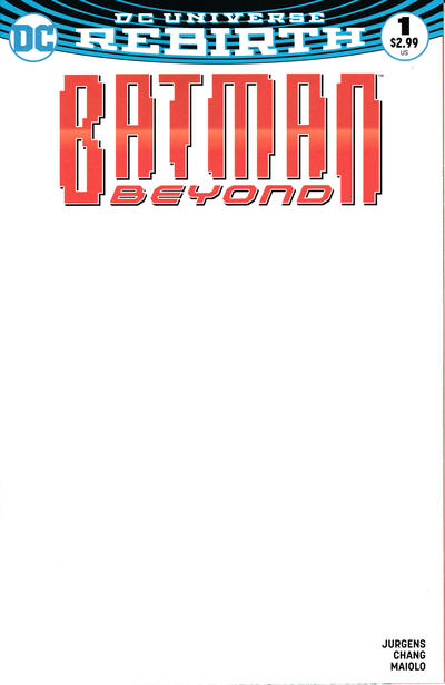 Cover for Batman Beyond (DC, 2016 series) #1 [Blank Cover]