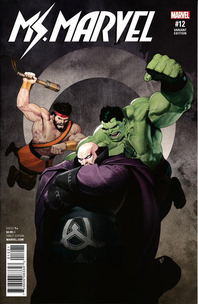 Cover for Ms. Marvel (Marvel, 2016 series) #12 [Olivetti Champions Variant]