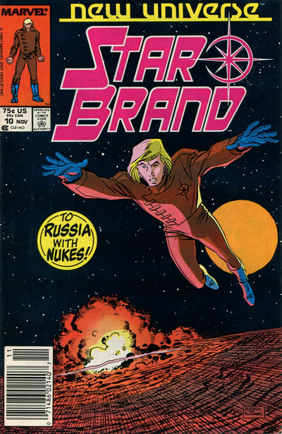 Cover for Star Brand (Marvel, 1986 series) #10 [Direct]