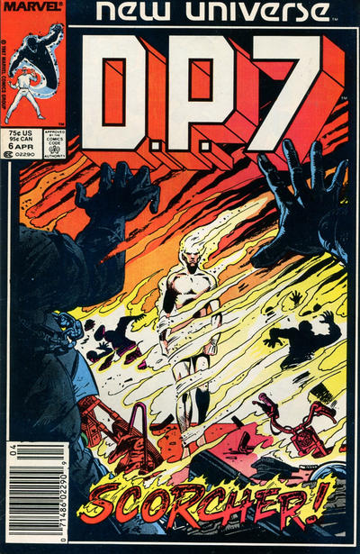 Cover for D.P. 7 (Marvel, 1986 series) #6 [Direct Edition]