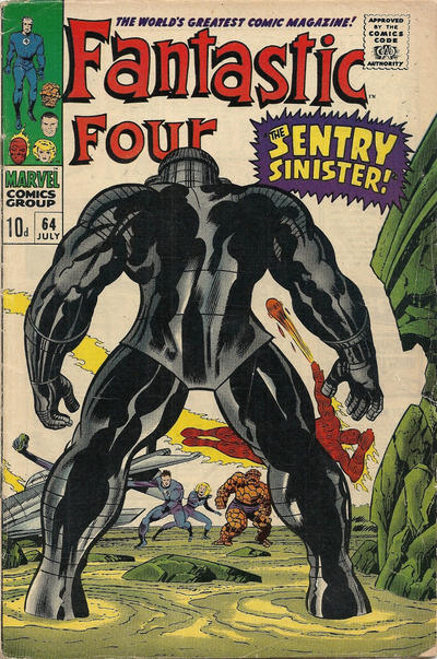 Cover for Fantastic Four (Marvel, 1961 series) #64 [Regular Edition]