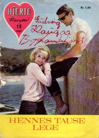 Cover Thumbnail for Hjerterevyen (Serieforlaget / Se-Bladene / Stabenfeldt, 1960 series) #15/1967