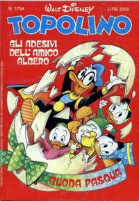 Cover Thumbnail for Topolino (Disney Italia, 1988 series) #1794