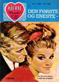Cover Thumbnail for Hjerterevyen (Serieforlaget / Se-Bladene / Stabenfeldt, 1960 series) #2/1971