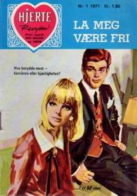 Cover Thumbnail for Hjerterevyen (Serieforlaget / Se-Bladene / Stabenfeldt, 1960 series) #1/1971