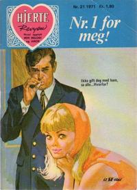 Cover Thumbnail for Hjerterevyen (Serieforlaget / Se-Bladene / Stabenfeldt, 1960 series) #21/1971