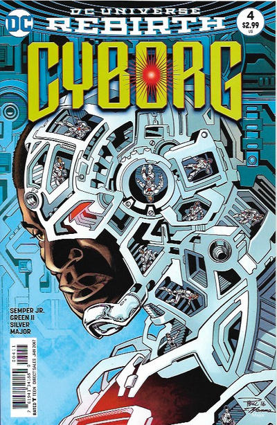 Cover for Cyborg (DC, 2016 series) #4 [Carlos D'Anda Variant Cover]