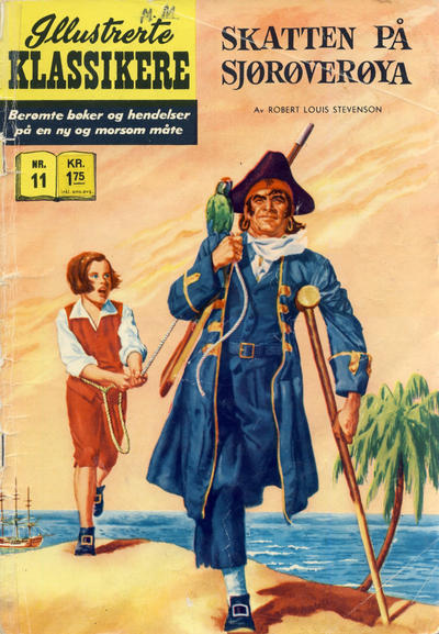 Cover for Illustrerte Klassikere [Classics Illustrated] (Illustrerte Klassikere / Williams Forlag, 1957 series) #11 - Skatten på sjørøverøya