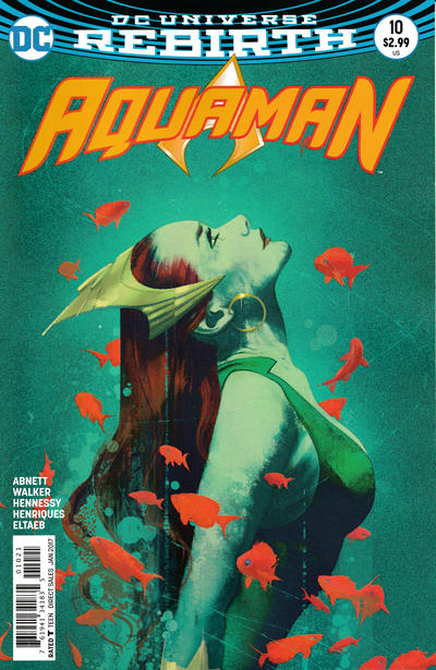 Cover for Aquaman (DC, 2016 series) #10 [Brad Walker / Andrew Hennessy Cover]