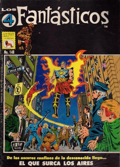 Cover for Los 4 Fantásticos (Editora de Periódicos La Prensa S.C.L., 1962 series) #148