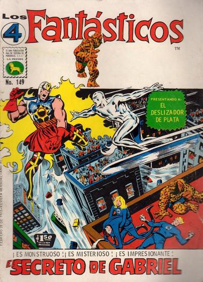 Cover for Los 4 Fantásticos (Editora de Periódicos La Prensa S.C.L., 1962 series) #149