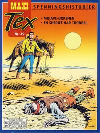 Cover Thumbnail for Maxi Tex (Hjemmet / Egmont, 2008 series) #49 - Mojave-ørkenen