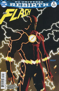 Cover Thumbnail for The Flash (DC, 2016 series) #8 [Dave Johnson Variant Cover]