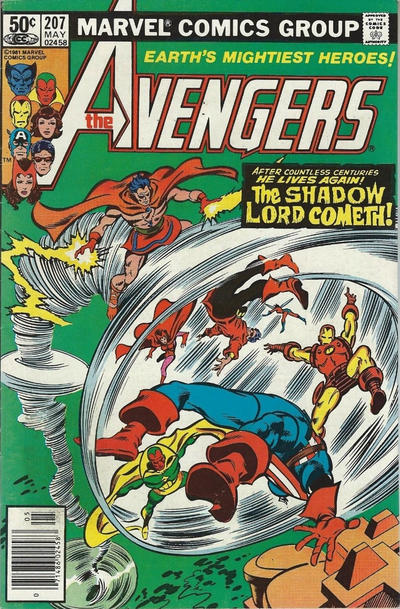 Cover for The Avengers (Marvel, 1963 series) #207 [British Variant]