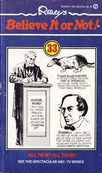 Cover Thumbnail for Ripley's Believe It or Not (New American Library, 1982 series) #33
