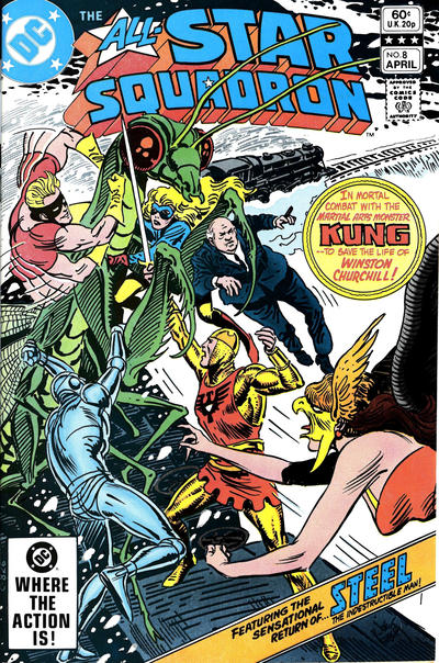 Cover for All-Star Squadron (DC, 1981 series) #8 [Direct Sales]