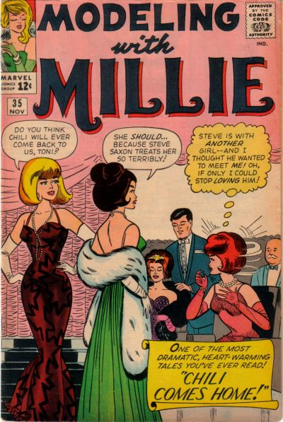 Cover for Modeling with Millie (Marvel, 1963 series) #35