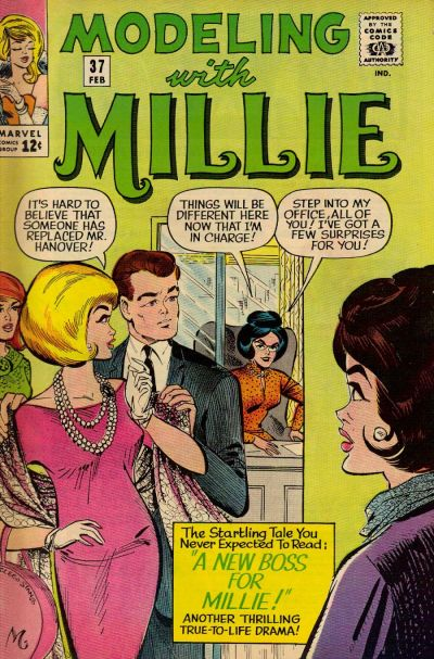 Cover for Modeling with Millie (Marvel, 1963 series) #37