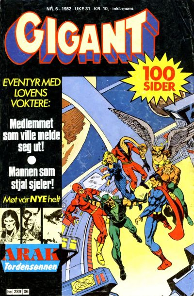 Cover for Gigant (Semic, 1977 series) #6/1982