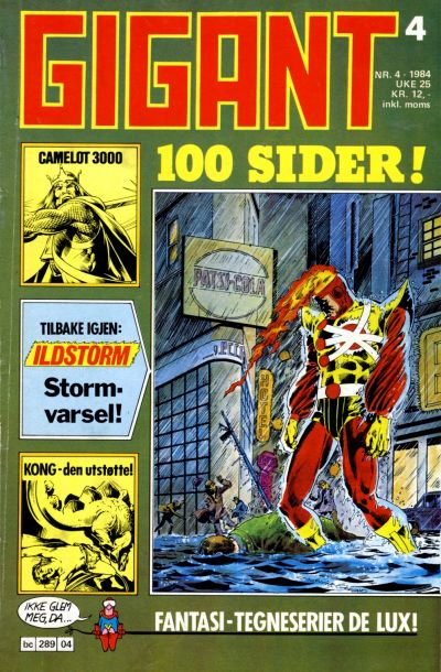Cover for Gigant (Semic, 1977 series) #4/1984