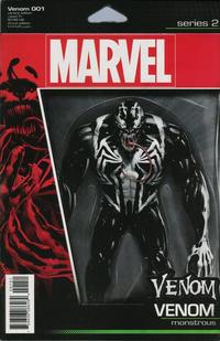 Cover Thumbnail for Venom (Marvel, 2017 series) #1 [John Tyler Christopher Action Figure (Venom - Monstrous)]