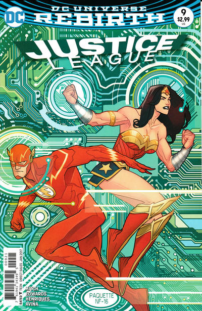 Cover for Justice League (DC, 2016 series) #9 [Yanick Paquette Cover Variant]