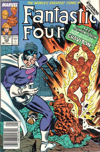 Cover for Fantastic Four (Marvel, 1961 series) #322 [Direct Edition]
