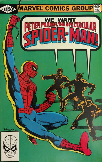 Cover for The Spectacular Spider-Man (Marvel, 1976 series) #59
