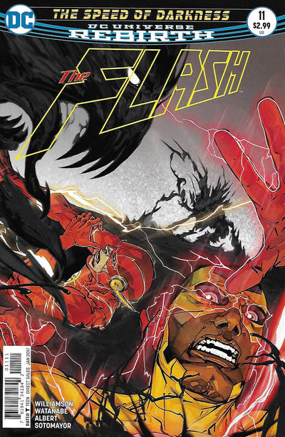 Cover for The Flash (DC, 2016 series) #11 [Dave Johnson Variant Cover]