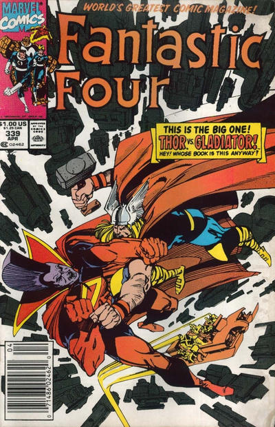 Cover for Fantastic Four (Marvel, 1961 series) #339 [Direct Edition]