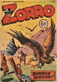 Cover Thumbnail for Zorro (L. Miller & Son, 1952 series) #61