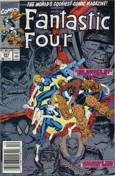 Cover for Fantastic Four (Marvel, 1961 series) #347 [Direct]