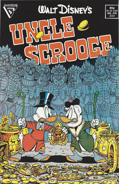 Cover for Walt Disney's Uncle Scrooge (Gladstone, 1986 series) #219 [Direct]