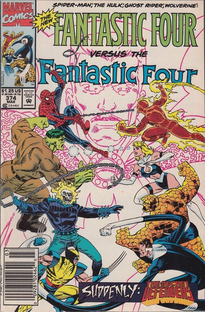 Cover for Fantastic Four (Marvel, 1961 series) #374 [Direct Edition]