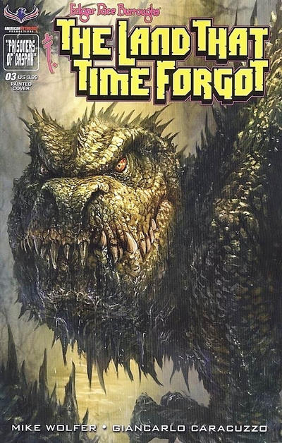 Cover for Edgar Rice Burroughs' The Land That Time Forgot (American Mythology Productions, 2016 series) #3 [Antique Cover]