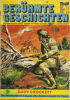 Cover for Bastei Sonderband (Bastei Verlag, 1970 series) #32 - Davy Crockett