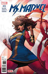 Cover for Ms. Marvel (Marvel, 2016 series) #13 [Incentive Joyce Chin 'Divided We Stand' Variant]