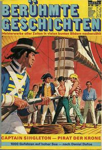 Cover Thumbnail for Bastei Sonderband (Bastei Verlag, 1970 series) #29 - Captain Singleton - Pirat der Krone