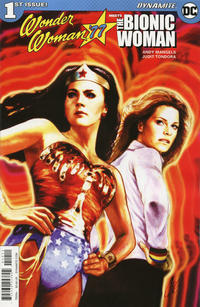 Cover Thumbnail for Wonder Woman '77 Meets the Bionic Woman (Dynamite Entertainment, 2016 series) #1 [Cover A Staggs]