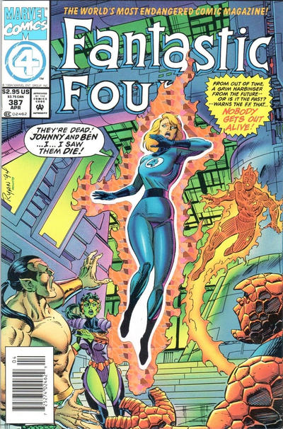 Cover for Fantastic Four (Marvel, 1961 series) #387 [Regular Direct Edition]