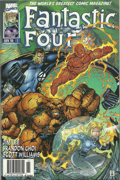 Cover for Fantastic Four (Marvel, 1996 series) #1 [Cover B]