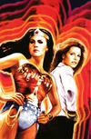Cover for Wonder Woman '77 Meets the Bionic Woman (Dynamite Entertainment, 2016 series) #1 [Cover E Retailer Incentive 'Virgin Art' Staggs]