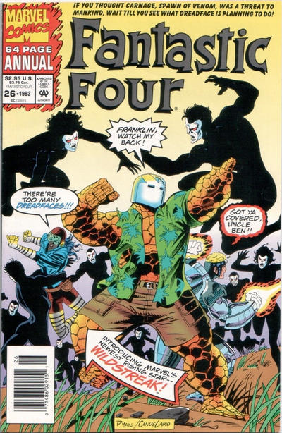 Cover for Fantastic Four Annual (Marvel, 1963 series) #26 [Direct Edition]
