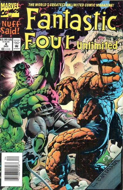 Cover for Fantastic Four Unlimited (Marvel, 1993 series) #4 [Direct Edition]