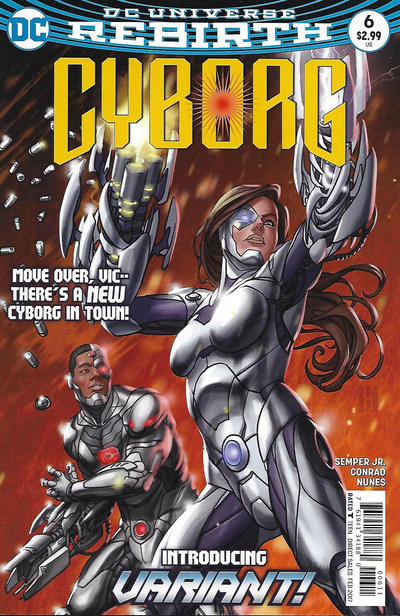 Cover for Cyborg (DC, 2016 series) #6 [Carlos D'Anda Variant Cover]