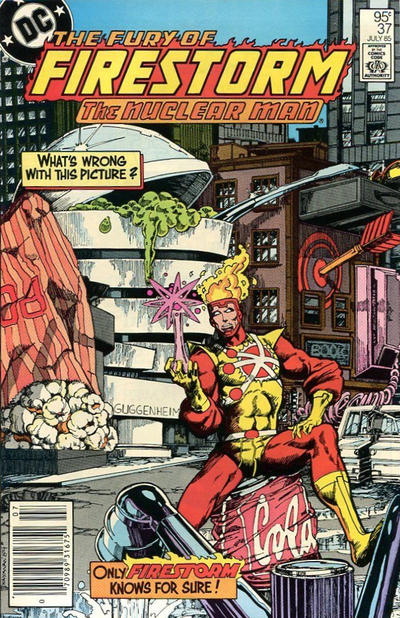 Cover for The Fury of Firestorm (DC, 1982 series) #37 [Direct Edition]