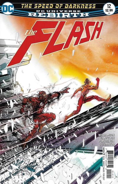 Cover for The Flash (DC, 2016 series) #12 [Dave Johnson Variant Cover]